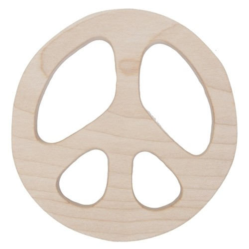 Beißring aus Holz - Peace (FSC)