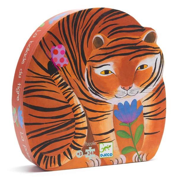 Puzzle: Der Tiger geht spazieren - 24 Teile
