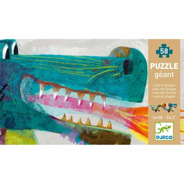 DJECO Puzzle Leon der Drache - 58 Teile