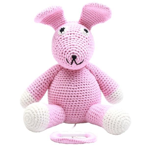 Spieluhr - Miss Rabbit rosa