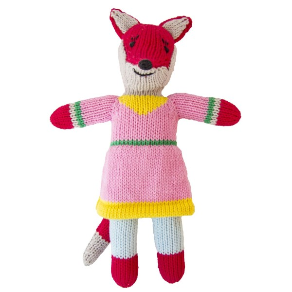 Stricktier Mini Fuchs rosa