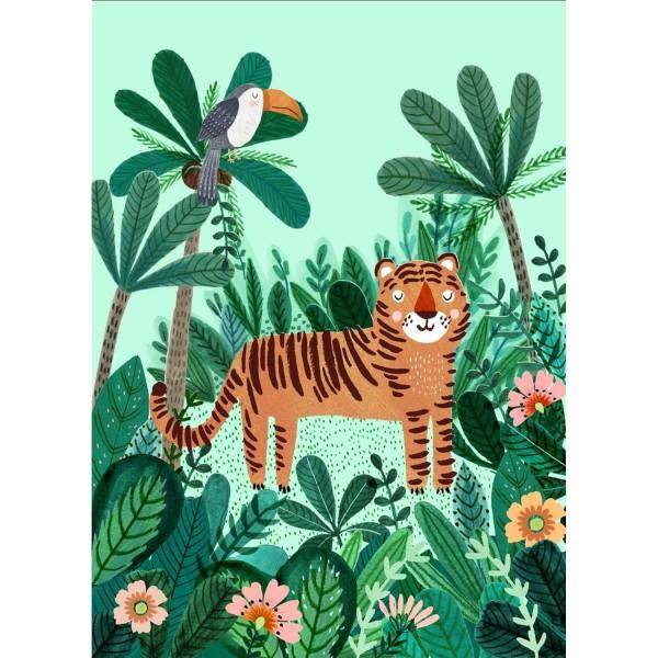 Postkarte Tiger