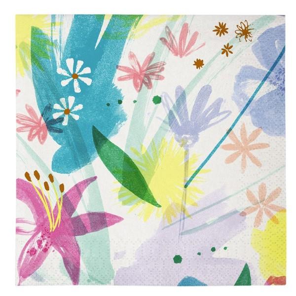 "Toot Sweet ""Painted Flowers"" Papierservietten, groß"
