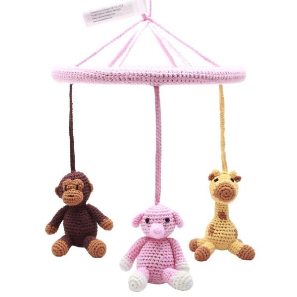 Mobile - Affe, Giraffe und Elefant