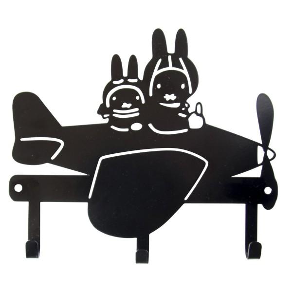 Miffy Garderobe Flugzeug schwarz