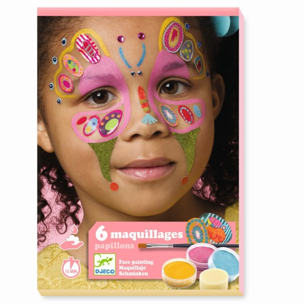 Kinderschminke Set Schmetterlinge Schminken Body Art Design