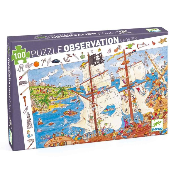 Puzzle Wimmelbild Piraten - 100 Teile