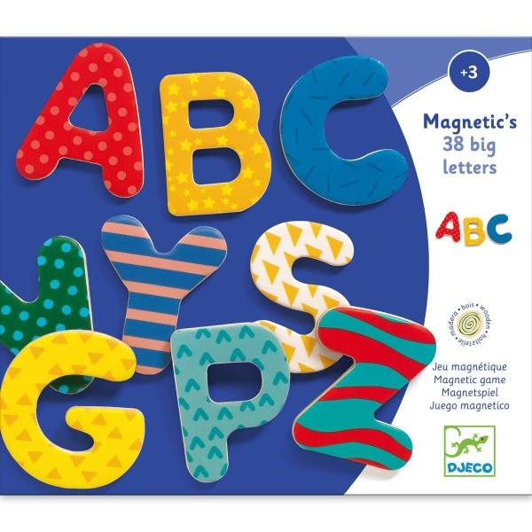 DJECO Holz Magnete: 38 verrückte Buchstaben