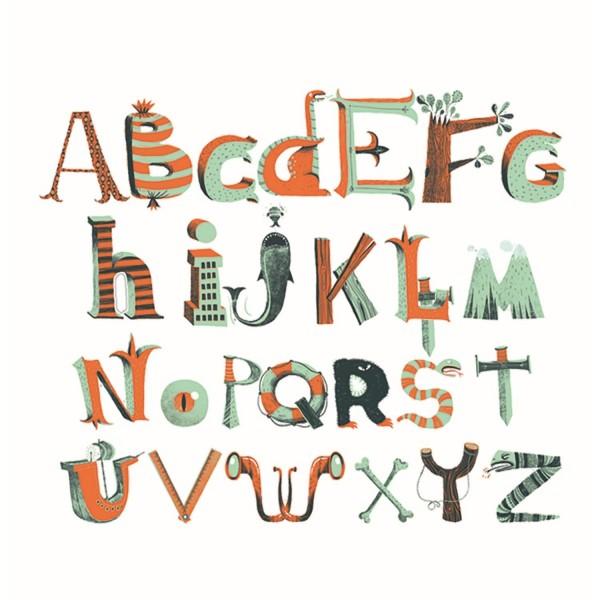 Wandsticker Piraten Alphabet
