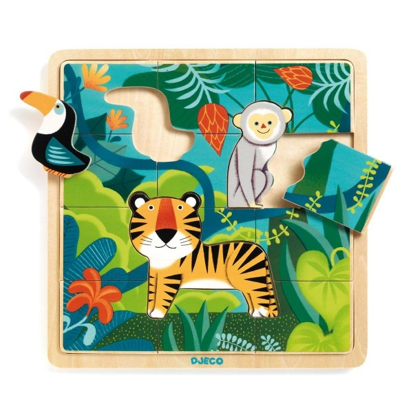 Holz Puzzle: Puzzle Dschungel