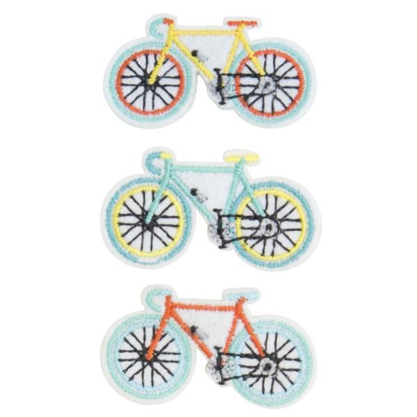 3 Anstecknadeln Fahrrad sortiert
