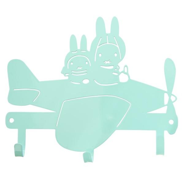 Miffy Garderobe Flugzeug mint